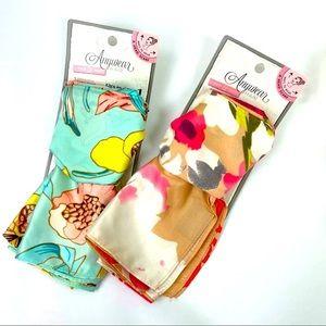 Remington NWT Satin floral Headscarf! Set of 2.